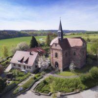 Klosterkirche Lobenfeld Kirche mit angrenzenden Gebäuden