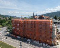 Baustelle des Neubaus in der Wiehre Heidelberg